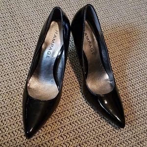 "NWOT ""RAMPAGE"" Black Patent Heels"